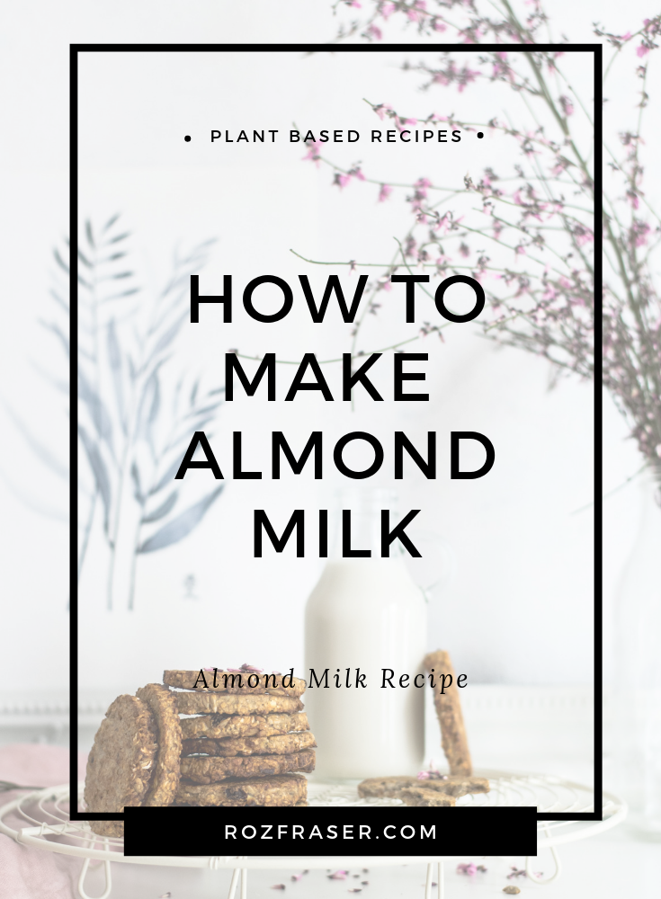 Learn how to make your own almond milk. Almond milk is a plant based and vegan friendly. You can make your own almond milk in 5 minutes.